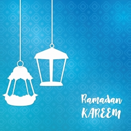 Abstract Shiny Ramadan Background With Lanterns