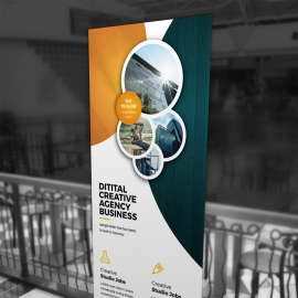 Advertisement Business Rollup Banner Template