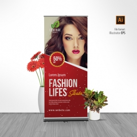 Advertisement Fashion Rollup Banner
