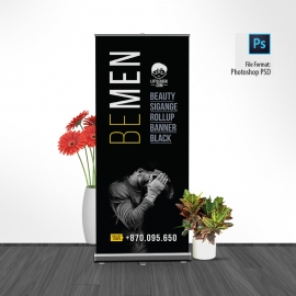 Advertisement Mens Fashion Black Rollup Banner