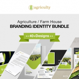 Agriculture Farm House Branding Identity Bundle