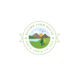 Agriculture & Farmhouse Retro Green Logo