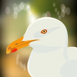 Albatross Bird Vector with Natural Background