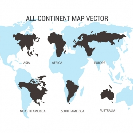 All Continent Map Vector