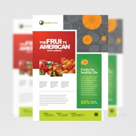 American Food Fruits & Health Flyer