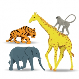 Animal Character Vector