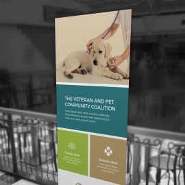 Animals & Pet Care Rollup Banner