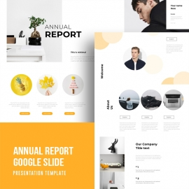 Annual Report 2019 Google Slide Template