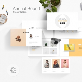 Annual Report 2019 Powerpoint Template