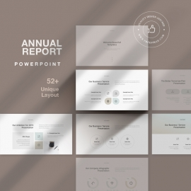 Annual Report PowerPoint With Minimal Design