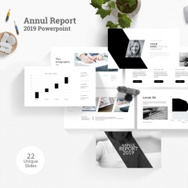 Annul Report 2019 Powerpoint Template