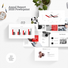 Annul Report 2020 Powerpoint Template