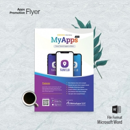 Apps Promotion Flyer With Responsive Mobile