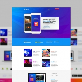 Apps Website Landing Page UI & UX Design
