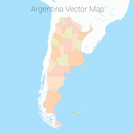 Argentina Map Colorfull Vector Design
