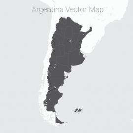 Argentina Map Dark Vector Design