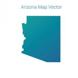 Arizona Map Vector Design with Gradient Color