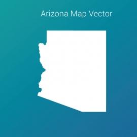 Arizona Map Vector Design With Gradient Color Backgroud