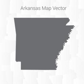 Arkansas Map Dark Vector Design