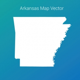 Arkansas Map With Gradient Color Background Vector Design