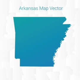 Arkansas Map With Gradient Color Vector Design