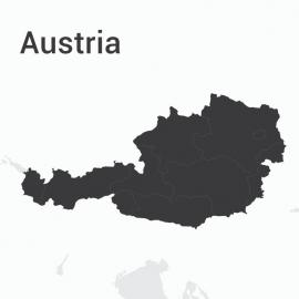 Austria Map Vector Design