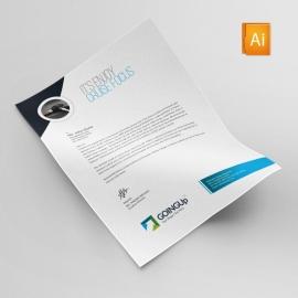 Auto Detailing Services Letterhead Design