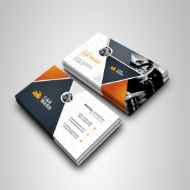 Auto & Transport Business Card With Triangle Shape
