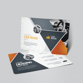 Auto & Transport Post Card Template