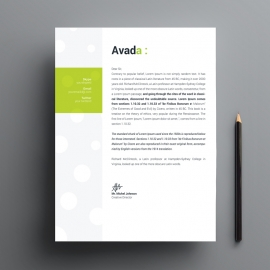 Avada Business Letterhead With Green Accent
