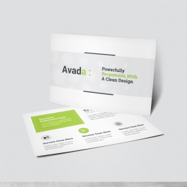 Avada Business Postcard With Green Accent