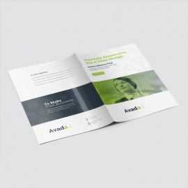 Avada Business Presentation Folder With Green Accent