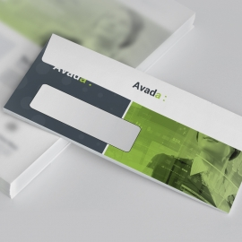 Avada DL Envelope Commercial With Green Accent