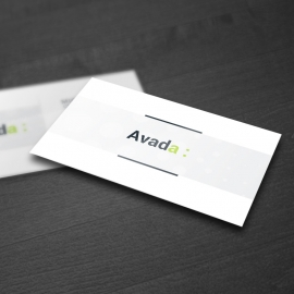 Avada Simple Clean Business Card