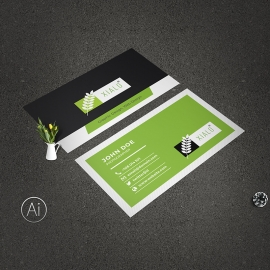 Awesome Clean Business Card