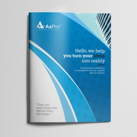 Axpro Brand Clean Bifold Brochure
