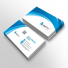 Axpro Brand Clean Business Card