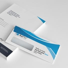 Axpro Brand Clean Commerial Envelope