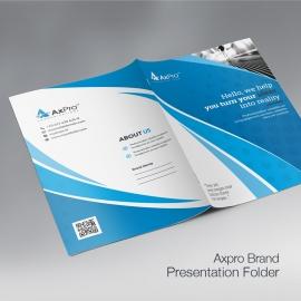 Axpro Brand Clean Presentation Folder
