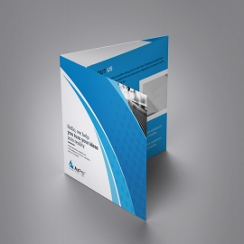 Axpro Brand Clean Squre Trifold Brochure