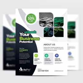 Axpro Brand Creative Clean  Flyer