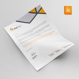Axpro Brand Creative Letterhead