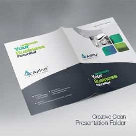 Axpro Brand Creative  Presentation Folder