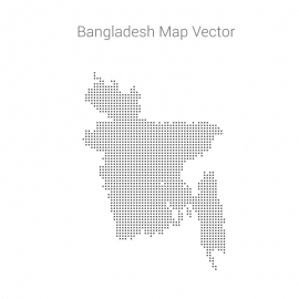 Bangladesh Map By Dots Vector Design