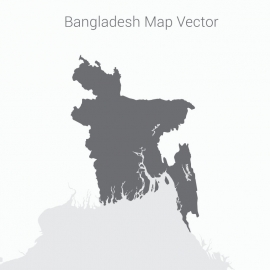 Bangladesh Map With Dark Background