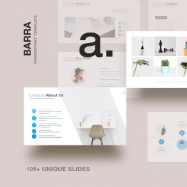 Barra Minimal & Clean Powerpoint Presentation Template
