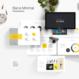 Barra Minimal Powerpoint Template
