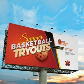 Basketball Tryouts Billboard Signage