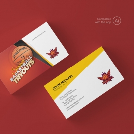 Basketball Tryouts Business Card Template