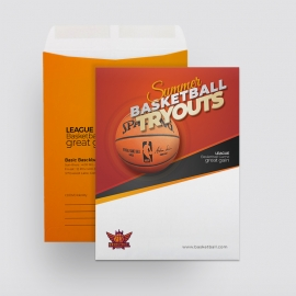 Basketball Tryouts Catalog Envelop Template